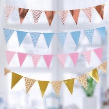 Guirlande de banderole à paillettes en papier de couleur or et argent pour bricolage, banderole d'anniversaire, pour événement à domicile, fête, mariage, fournitures de soirée