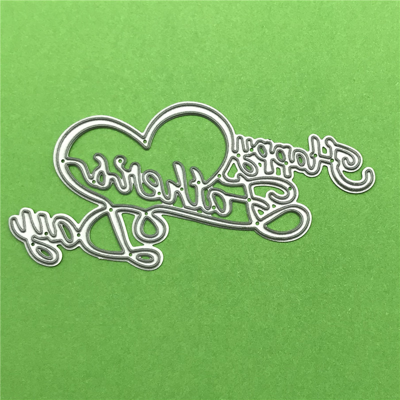 Happy Father Day Greeting Cutting Dies Cards Scrapbooking Die 3D DIY Scrapbooking Die Photo Invitation Cards Decoration