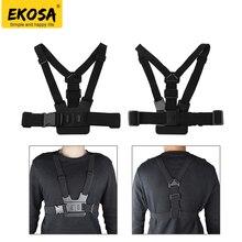 EKOSA Chest Belt Strap For gopro hero 5 four three Equipment Sjcam Sj4000 Adjustable Strap For Go Professional four three 5 Eken Motion Digital camera Mount