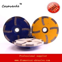 DC RCW D100mm 4 Inch Resin Filled Stone Diamond Cup Wheels For Grinding Stone