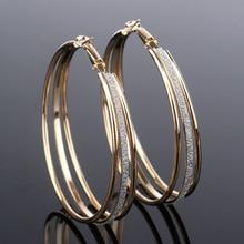 Классические круглые большие серьги кольца 1 пара круглых колец золотого/серебряного цвета серьги-кольца большого размера в стиле панк для женщин