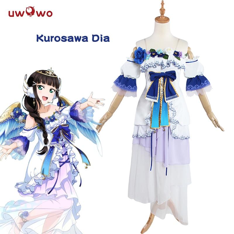 UWOWO Dia Kurosawa Cosplay Love Live Sunshine Aqours Angel Awake Idolized Costume  Love Live Sunshine Cosplay Dia Kurosawa Girls