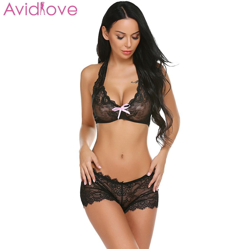 Detail Feedback Questions about Avidlove Sexy Lingerie Bra Panties Women  Exotic Lace g String Thong Brief Strap Cross Hollow Out Bikini Bras  Underwear Women ... 697df6c7a