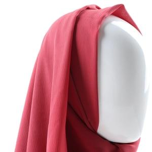 Image 5 - One piece women solid plain crepe chiffon hijab scarf wraps soft long islam shawls muslim crinkle chiffon scarves hijabs