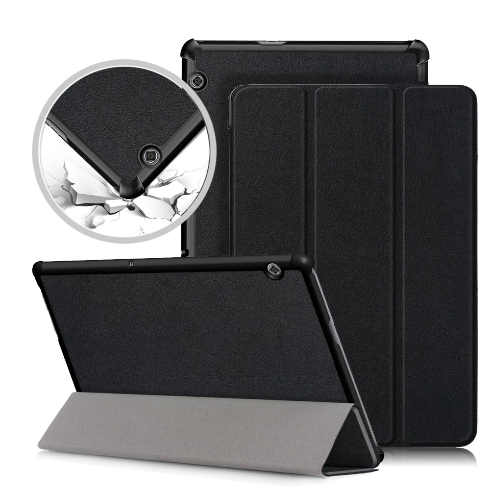 PU Leather Case For Huawei MediaPad T5 AGS2-W09/L09/L03/W19 10.1Tablet stand cover for huawei mediapad T5 10 case new 9h glass tempered for huawei mediapad t5 10 tempered glass screen film for huawei mediapad t5 10 inch tablet screen film