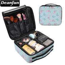 Deanfun Mermaid Pink Makeup Case Durable Water Resistant Cosmetic Bag Travel Organizer Train Cases Storage 16006(China)