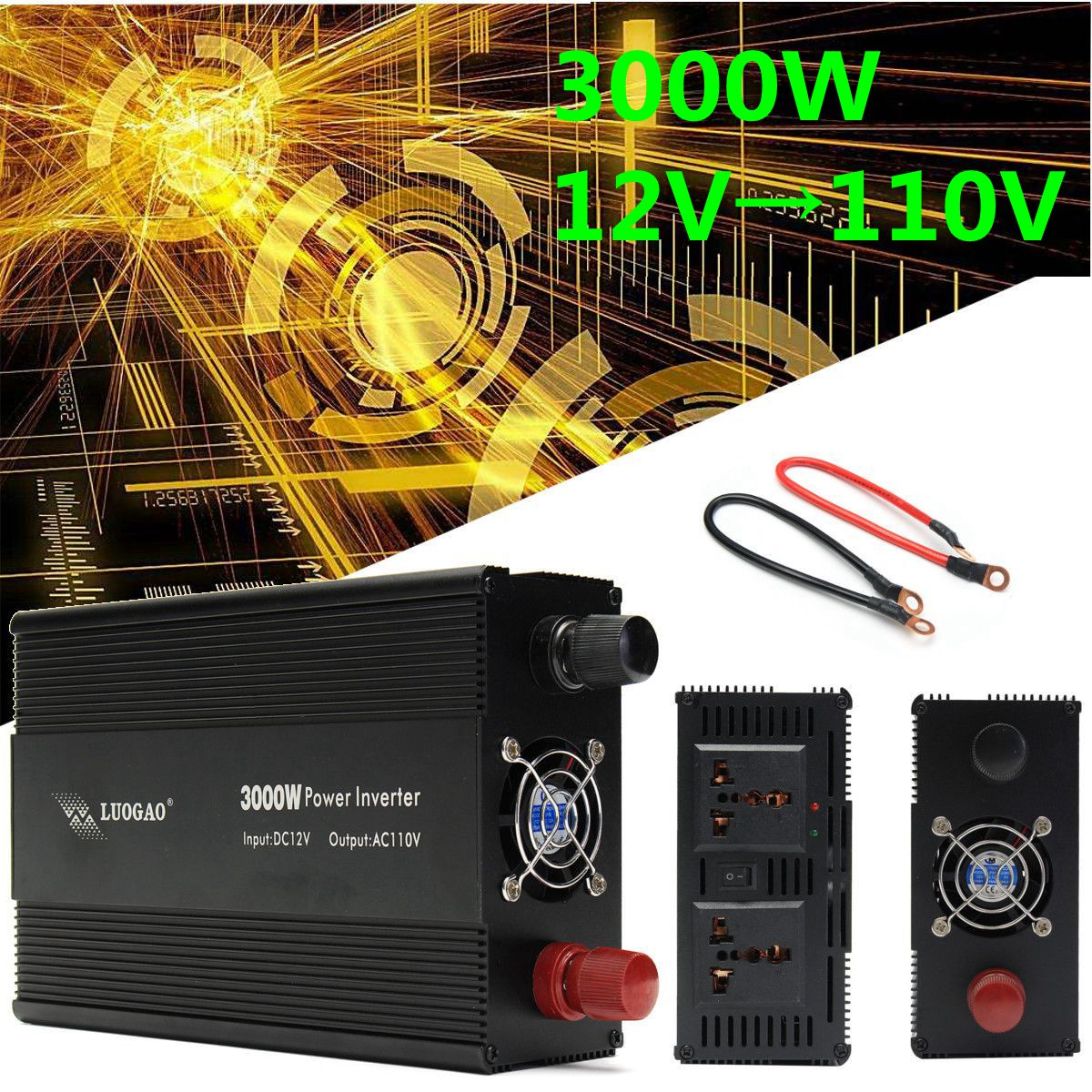 цена на Power Inverter 12V 220V/110V 3000W P eak 6000W Voltage transformer DC 12V To AC 220V /110V Adapter Charger Modified Sine Wave