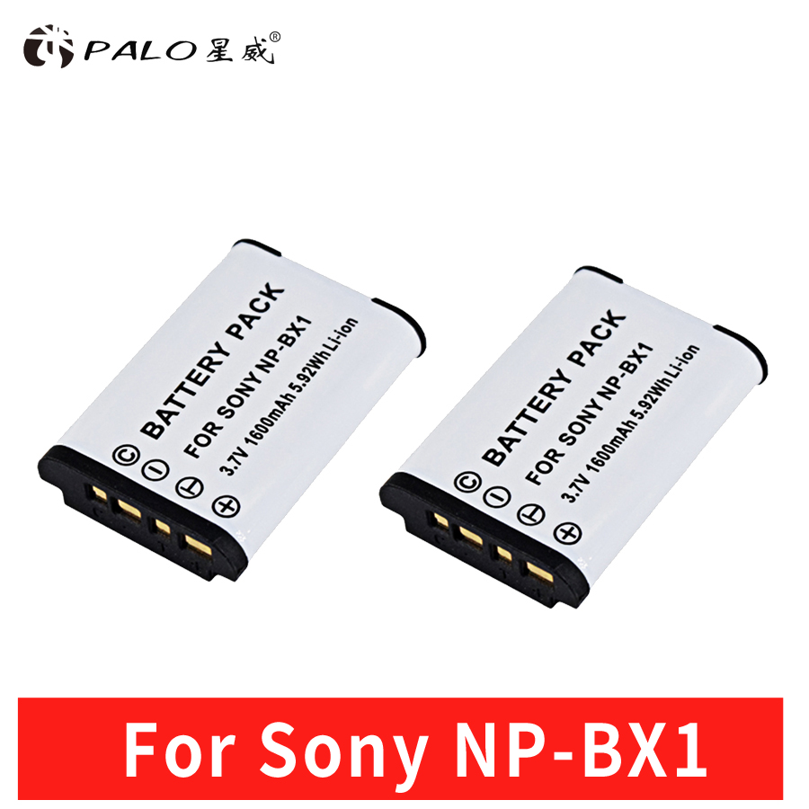 2pcs NP-BX1 Battery Pack For SONY Camera DSC-RX100 RX1 HDR-AS15 AS10 HX300 WX300 NPBX1 NP BX1 BC-CSXB Camera Battery NPBX1 palo 4pcs np bx1 battery pack np bx1 npbx1 dual bateria charger for sony np bx1 hdr as200v as15 as100v dsc rx100 x1000v wx350