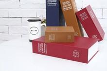 قاموس صندوق الأمان كتاب سري المال المخفية الأمن قفل حماية المال النقدية عملة تخزين المجوهرات كلمة السر خزانة للطفل هدية
