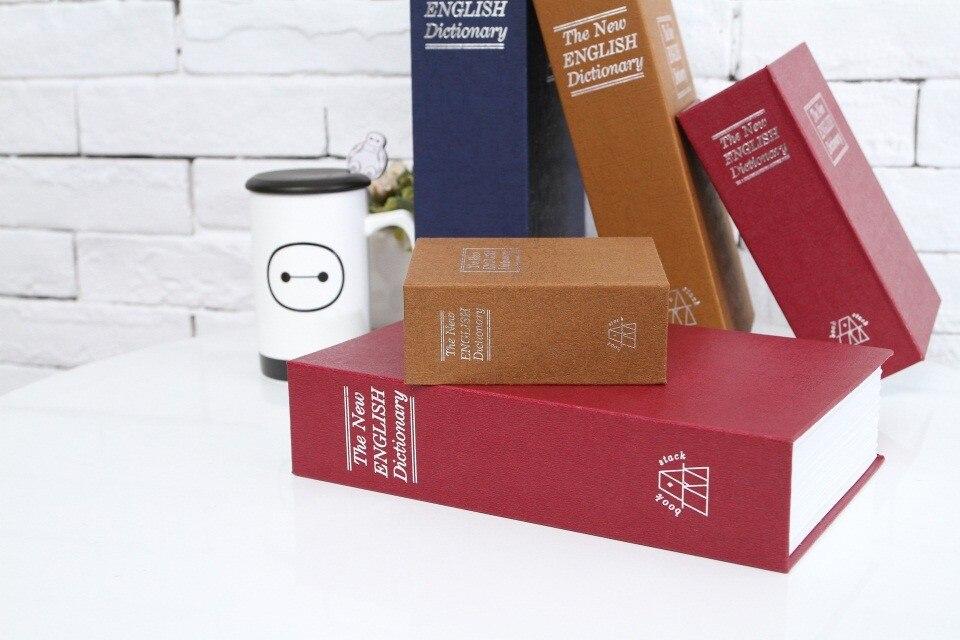 Dictionary Safe Box Secret Book Money Hidden Security Safe Lock Cash Money Coin Storage Jewellery Password Locker For Kid Gift стоимость