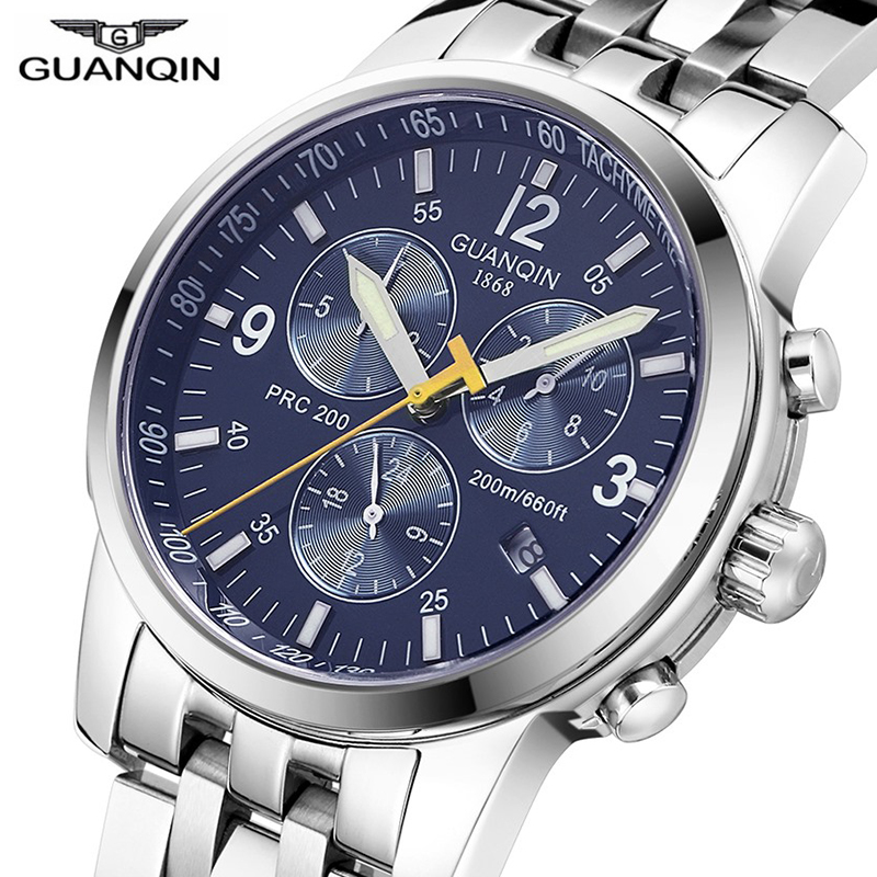 GUANQIN 2018 Mechanical Automatic 200m Diver Swimming Sport Men Watches Top Brand Luxury 316L Steel Clock Men Relogio Masculino