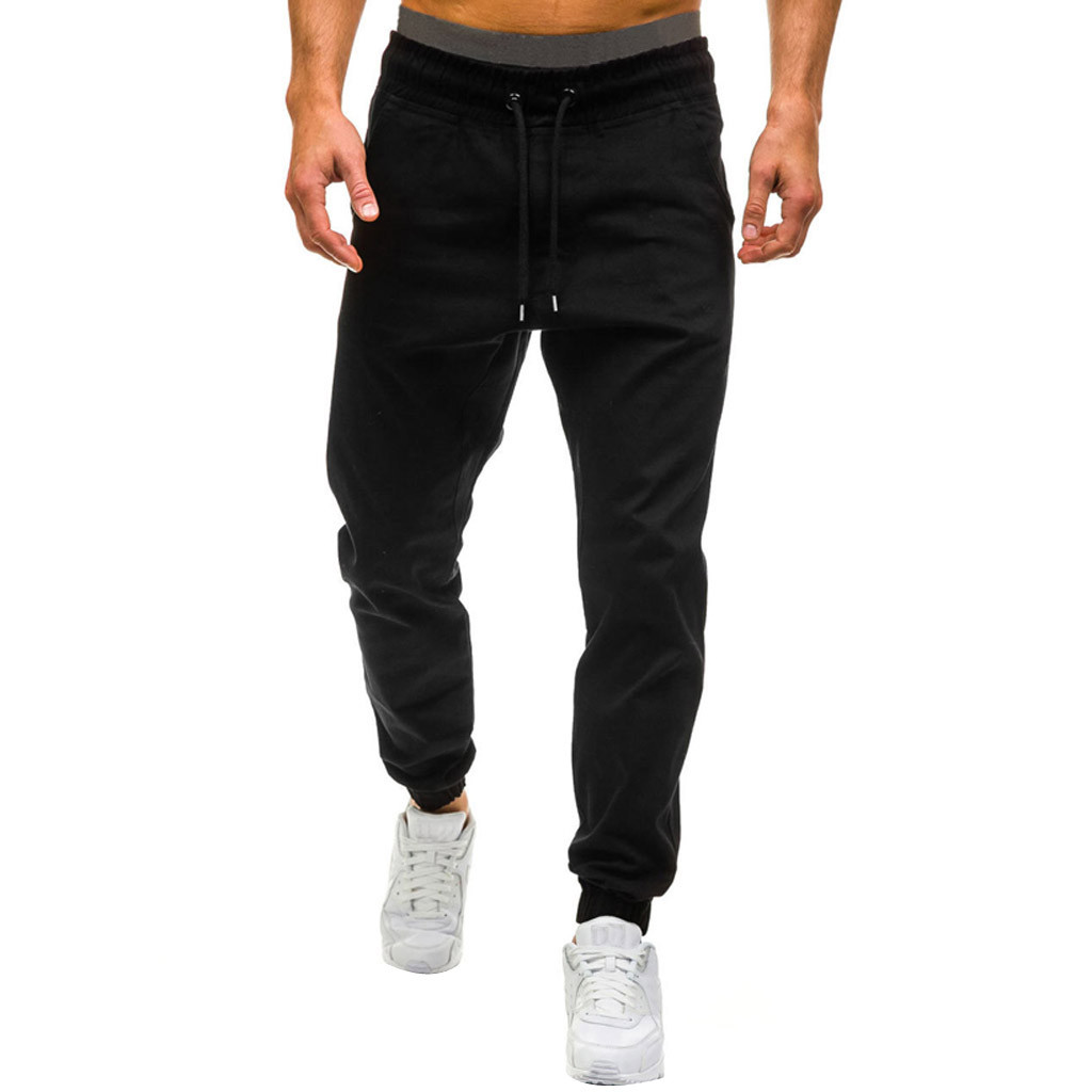 Men's Summer New Style Loose Casual Tether Elastic Design Pants Sporting Clothing The High Quality Bodybuilding Pants