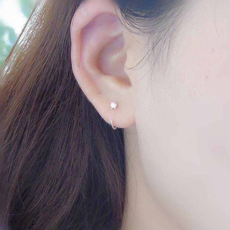 petit anneau boucle d'oreille