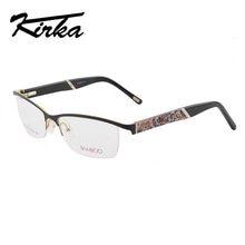 f7e324d1daf084 Kirka Half Velg Metalen Brilmontuur voor Vrouwen Brillen Fashion Cool  Optische Eyewear Man Spectacles Recept Frame