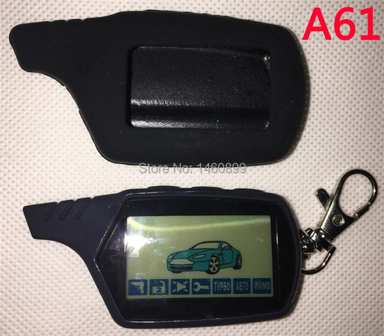2-way A61 LCD Remote Control Key Fob +Silicone Key case for Russian Anti-theft Twage StarLine A61 Two way car alarm system