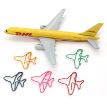 TRANSPORT AIRCRAFT SERIES Paperclip SHAPE BOOKMARK FOLDER OFFICE STAtIONERY ACCESSORIES(China)