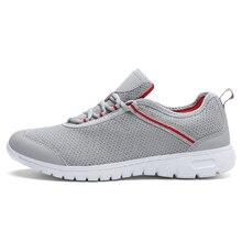 Plus size Mesh Breathable Men Running Shoes Super Light Half Marathon Men Sneakers Young Cool Summer Sport Shoes