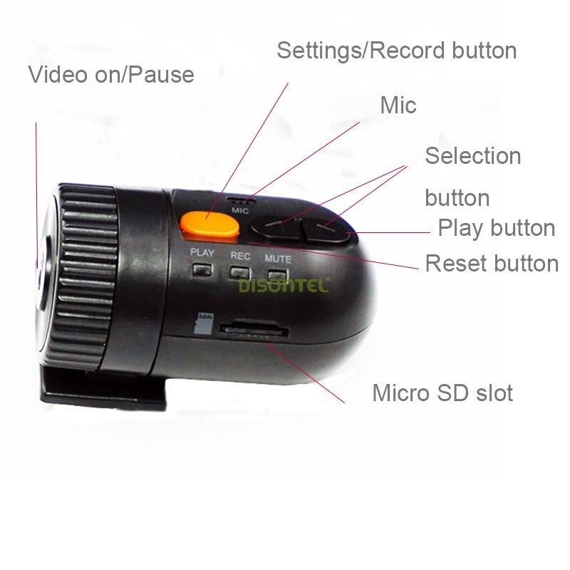 HD Smallest Car Camera DVR high definition wide-angle lens 12V Car DVR Cam recorder G-sensor for DVD