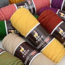 5 stuks = 500g Kleurrijke Dikke Garen voor Breien Baby Breien Werk Wol Garen voor Hand Breien Draad Alpaca wol Garen gratis verzending