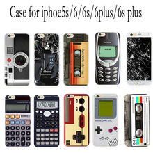 Retro classic retro game camera calculator TPU soft case phone case cover for iphone5s /5SE 6 / 6s / 6plus / 6splus
