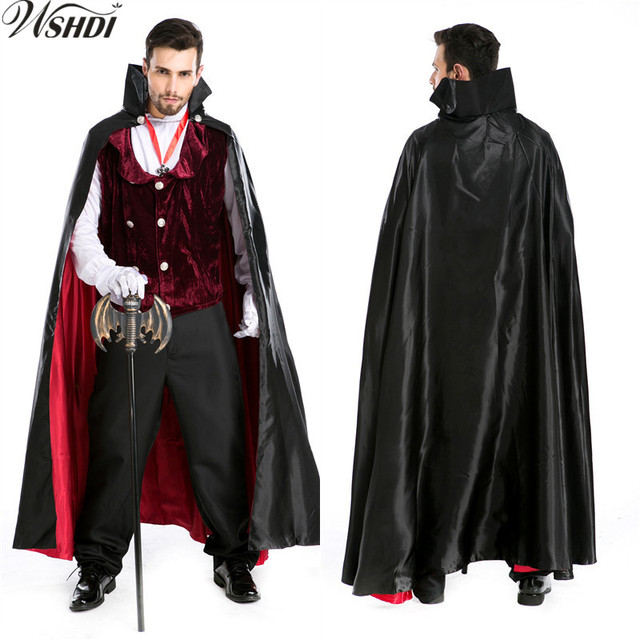 6 pcs deluxe adult mens halloween carnival party dracula vampire costumes outfit fancy devil cosplay costumes