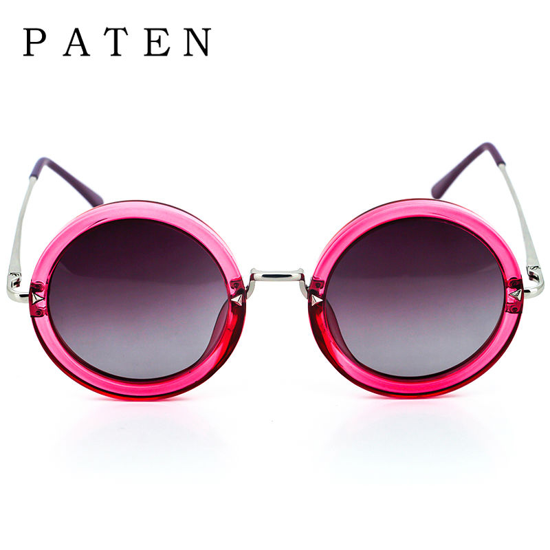 9d469ddceb Polarized Round Sunglasses Women Metal Pink Blue color Transparent Glasses  for types of faces Flat Gradient Tinted Sunshades USA-in Sunglasses from  Apparel ...