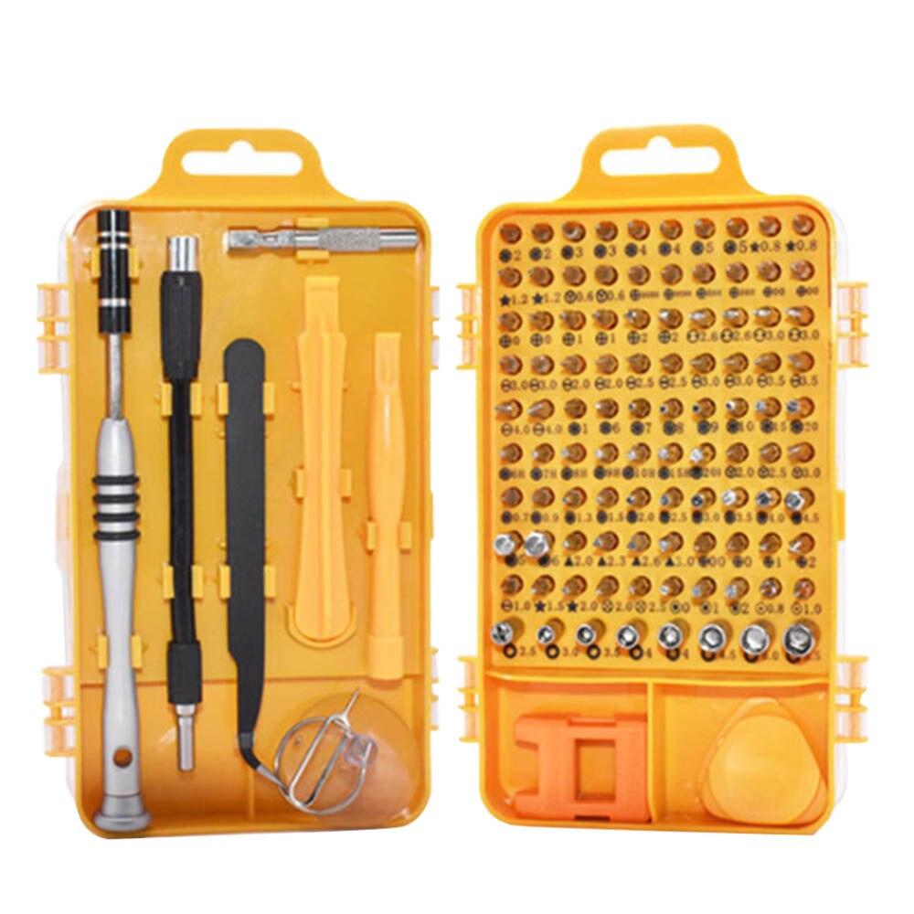 цена на 108 in 1 Screwdriver Set Multi-function Computer PC Mobile Phone Digital Electronic Device Repair Hand Home Tools Bit