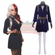 Anime My Hero Academia Shoto Todoroki Cosplay Costume Boku no Akademia female version custom made