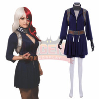 Anime My Hero Academia Shoto Todoroki Cosplay Costume Boku no Hero Akademia female version custom made