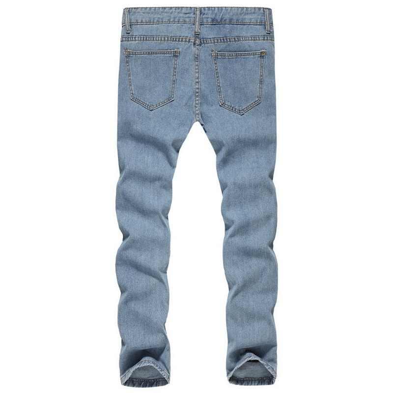 8e1e53091 CALOFE marca de vaqueros ajustados casuales de los hombres ropa Hip Hop  Hombre Pantalones de moda salpicaduras de impresión de tinta de otoño Jeans  ...