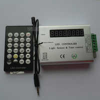 High Quality 24 Key IR Remote  led strip light Intelligent Light Sensor&Time Controlled Controller;DC12-24V