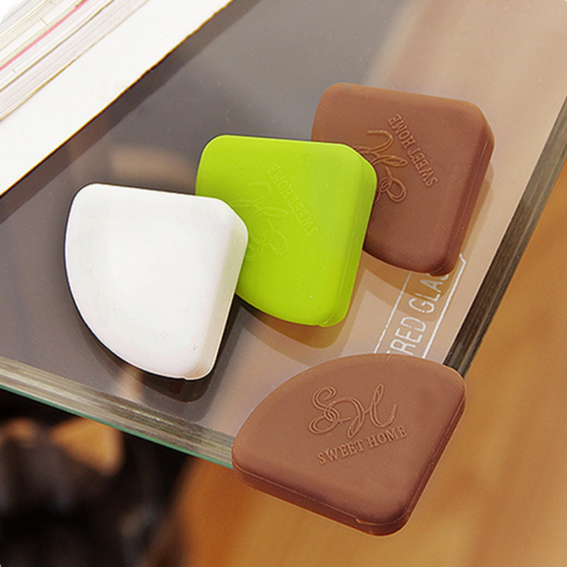 Silicone Table Desk Corner Protective Guard Cover Baby Kids Safety Anti-collision Corner Cushion Cover Protect Children