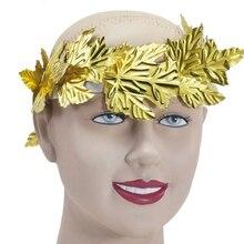 Gold Leaf Headband Roman Greek Goddess Laurel Wreath Fancy Dress Costume Women