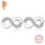 Genuine 925 Prata Esterlina Jóias de Casamento Acessórios de Cristal Pave Minúsculo Infinito Colar/Brincos Conjunto de Jóias para As Mulheres