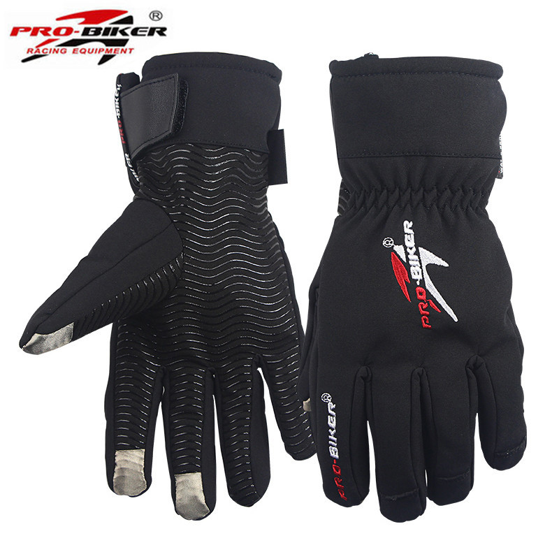 Motorcycle gloves waterproof winter fingers separated touch screen full finger moto gloves the skiing motorcycle glove