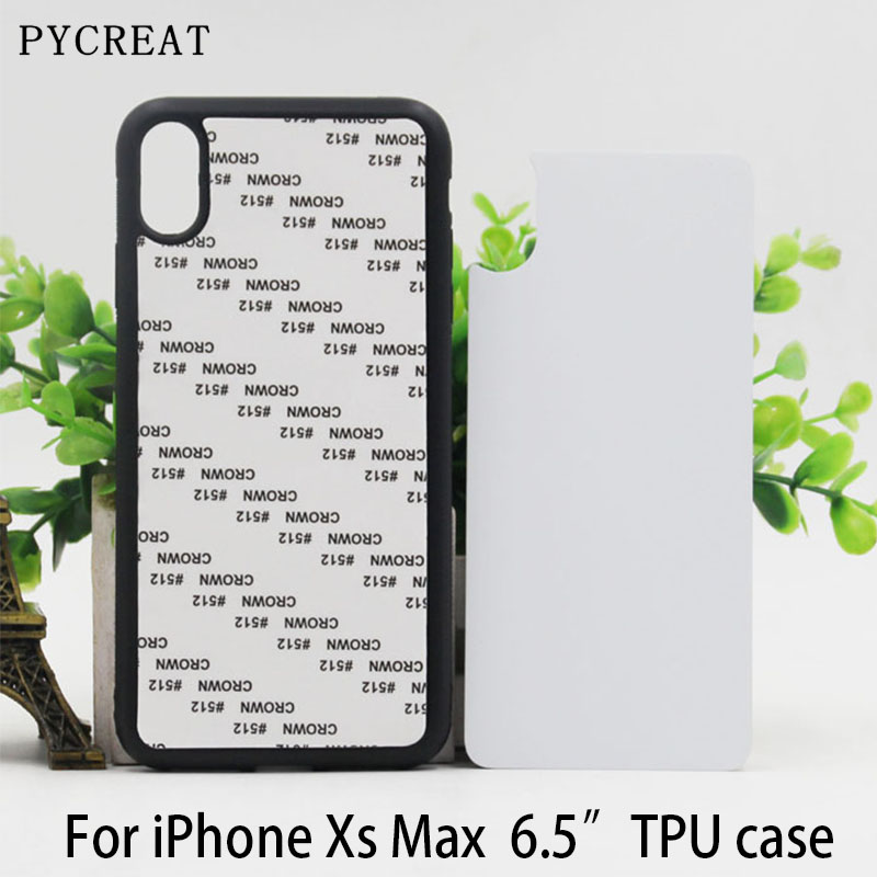 6.5 Fundas For iPhone XS Max Rubber Case 2D Dye Sublimation Soft Silicone TPU Blank Phone Housing With Plate Coque For iPXs Max