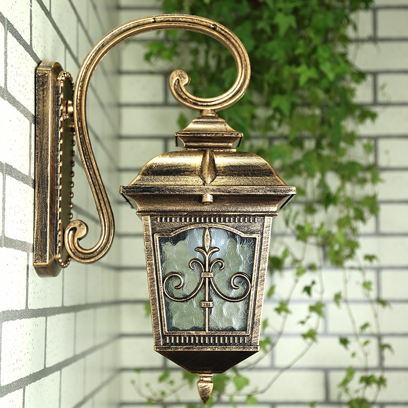 Waterproof Aluminium Die-casting Porch Light Outdoor Wall Lamp Never Rust Cottage Antique Garden Yard Aisle Street Lights Bronze free shipping 1piece lot top quality 100% aluminium material waterproof ip67 standard die cast aluminium box222 145 55mm