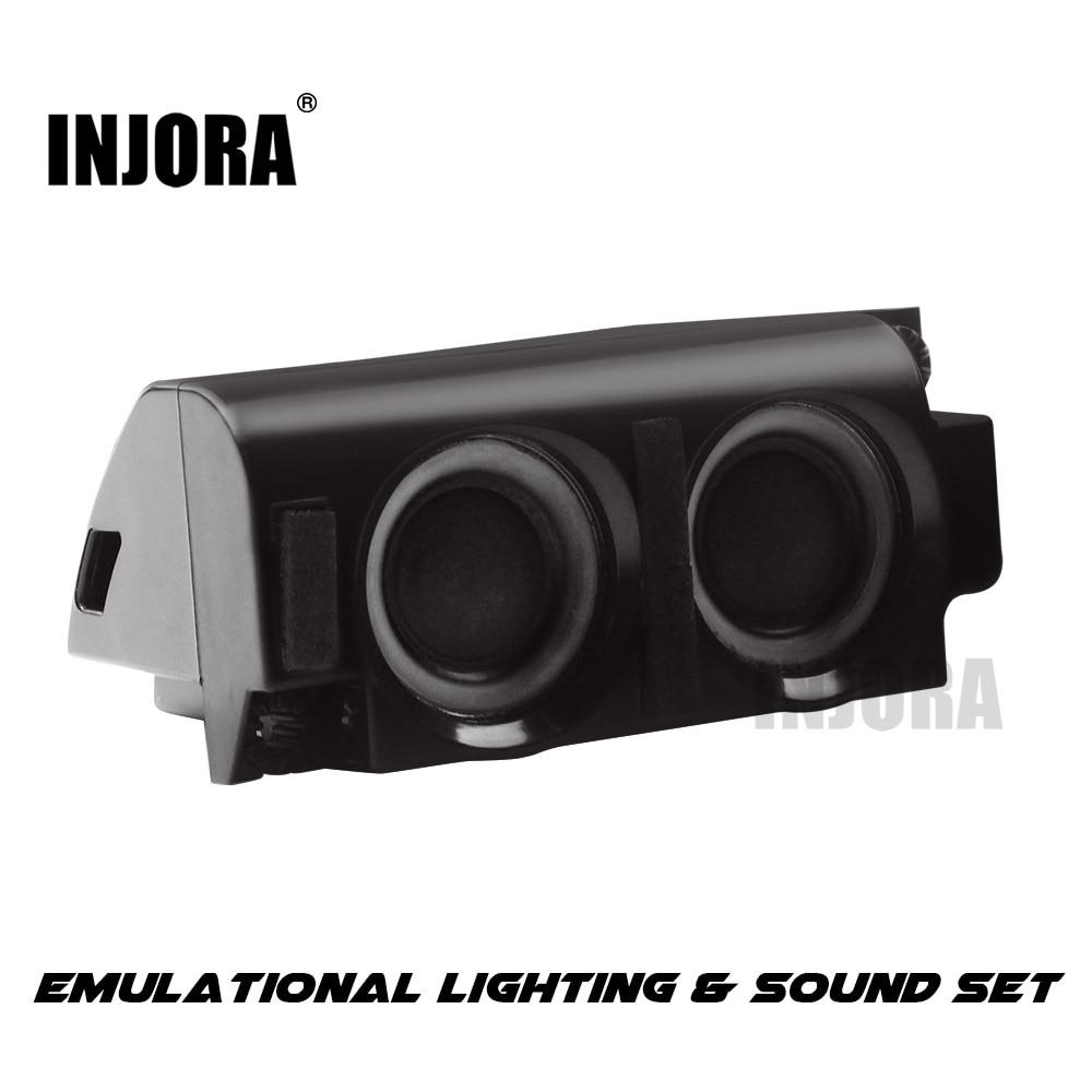INJORA RC voiture moteur simulateur sonore pour 1/10 RC chenille Traxxas TRX4 Axial SCX10 WRAITH 1:14 Tamiya tracteur
