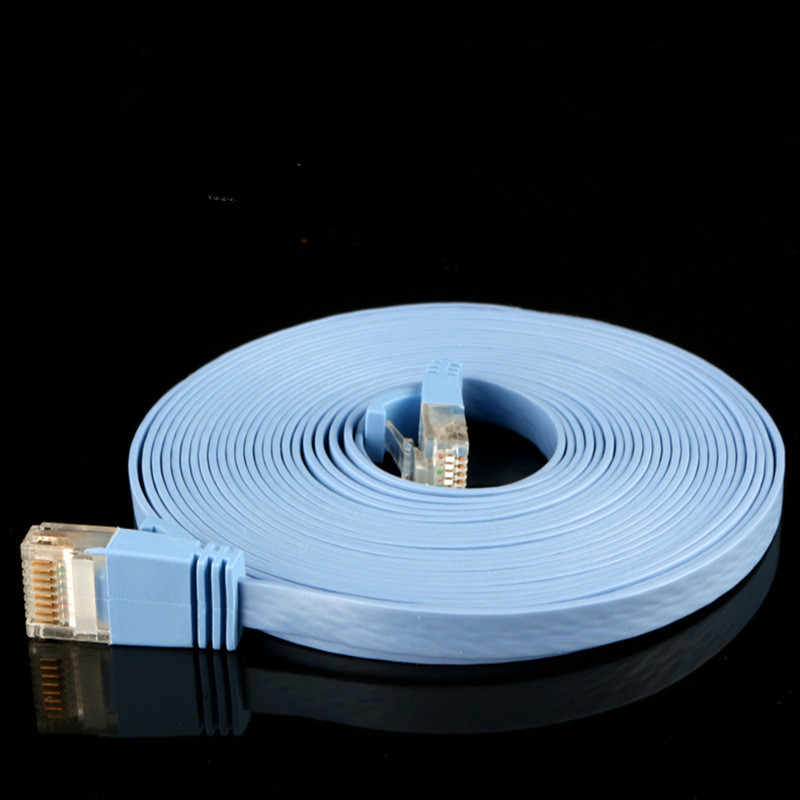 Home improvement color flat product network cable Gigabit computer jumper ultra thin network cable KW