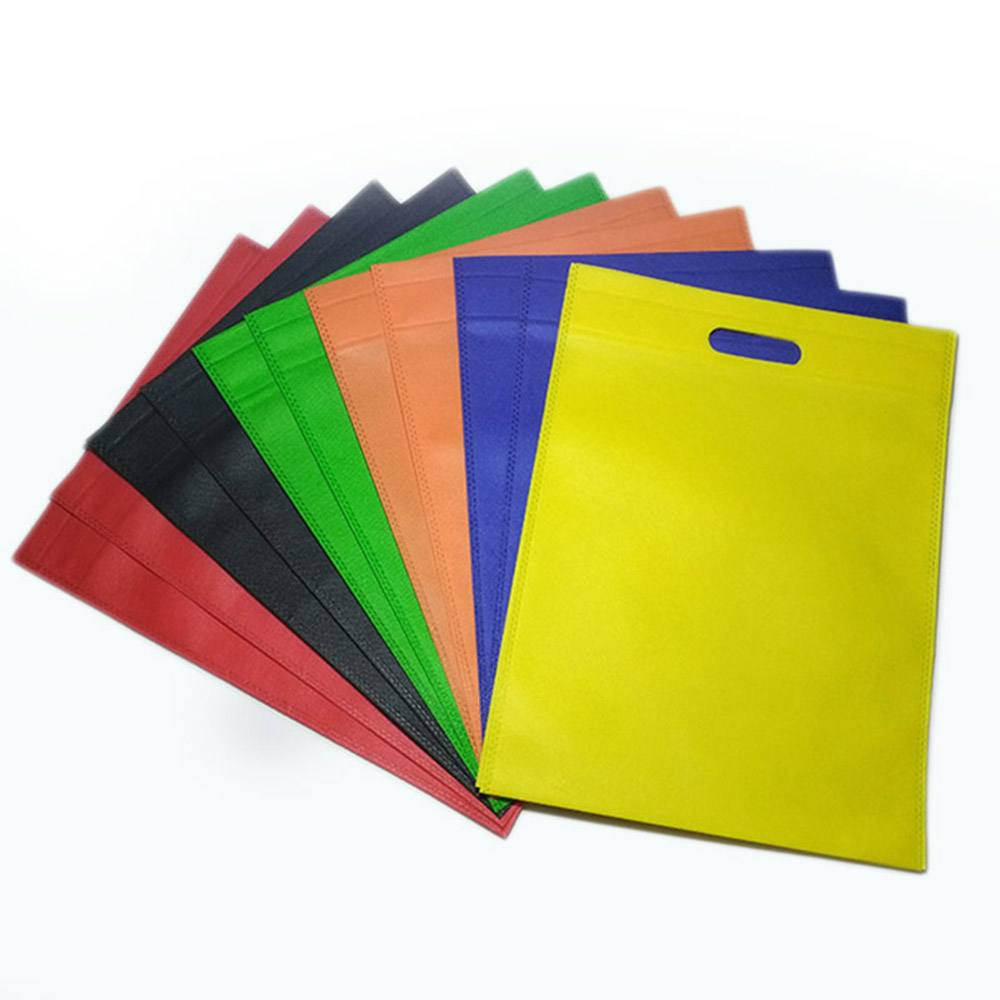 1pc Reusable Large Shopping Bag Non-Woven Fabric Bags Women Shoulder Tote  Environmental Case Organizer Multifunction  Bags