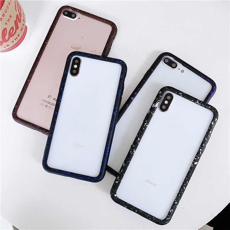 Iphone × XR Xs 最大バンパー Silm シリコーンプロテクターソフトフレーム電話バンパーケース iphone 6 6 S 7 8 プラス Capa の Funda Coque