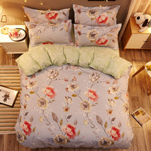 Classic bedding set 5 size big flower bed linens 4pcs/set duvet cover Pastoral sheet AB side 2018 bedclothes