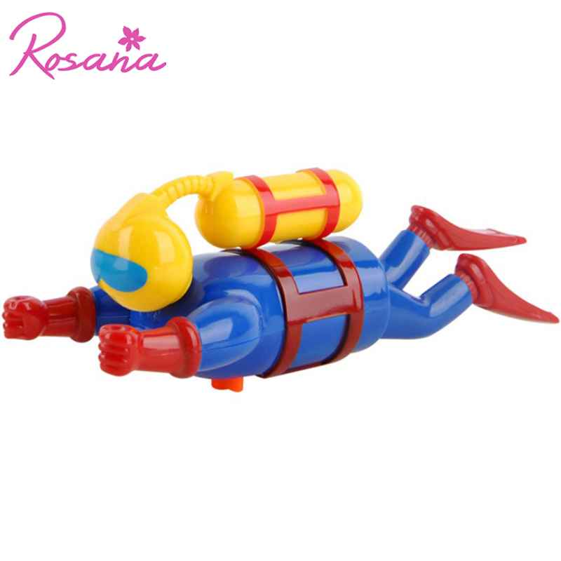 Rosana Diver Doll Kids Clockwork Swimming Water Toy Simulation Potential Diver for Children Baby Bath Toys Pool Accessories