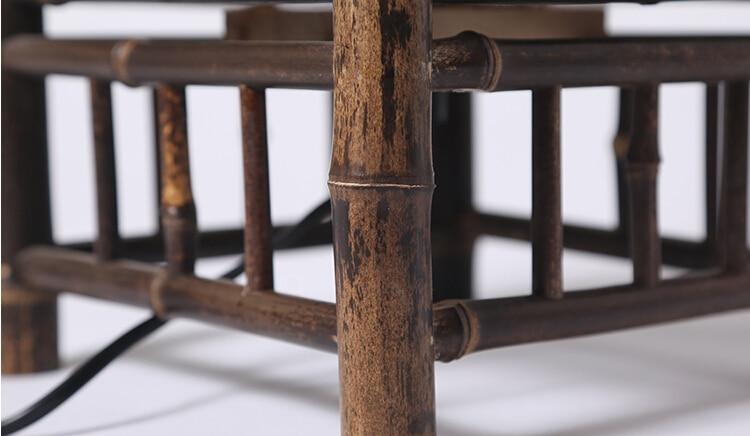 Vintage Håndværk Bambus Gulvlampe Japan Stil Bambus Lysarmaturer - Indendørs belysning - Foto 6