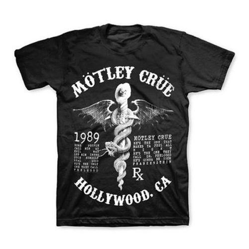 736091d8b34f3d 2018 Crossfit T Shirts MOTLEY CRUE Feelgood Lyrics T-Shirt New Authentic S  M L XL XXL New Brand Casual Clothing