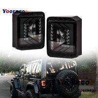 YOOERGOO Rival Series LED Tail Lights for Jeep Wrangler JK JKU 2007 2018 w/Smoke Lens Brake Taillights