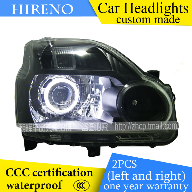 Hireno custom Modified Headlamp for Nissan X-Trail 2008-12 Headlight Assembly Car styling Angel Lens Beam HID Xenon 2 pcs hireno headlamp for cadillac xt5 2016 2018 headlight headlight assembly led drl angel lens double beam hid xenon 2pcs