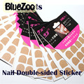 BlueZoo 10 Sheets Double Side Adhesive Glue Sticky Tape Professional One-Off Double Side Nail Stickers For False Nail Tips