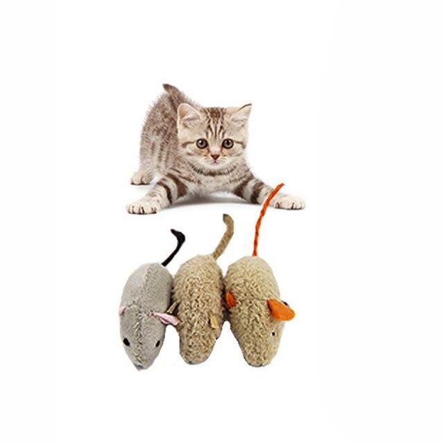 3 pz/set Rat Squeak Rumore Suono Pet Dog Cat Kitten Peluche di Simulazione Gioca