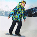 Inverno Meninos Roupas Definir Crianças Outerwear Engrossar Casaco Quente Terno de Esqui Impermeável À Prova de Vento Meninos Casacos Para 4-16 T para-30 Graus